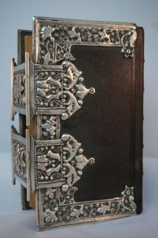 Bijbel zilveren klampen antiek