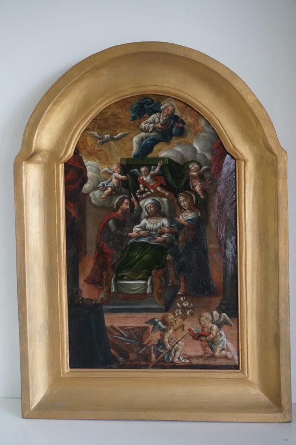 Olieverf schilderij St. Jozef 17e eeuw Dullaert antiek heiligen