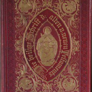 Bijbel dore leren band goudstempel antiek Dullaert