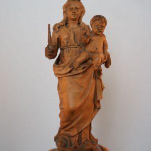 Palmhouten mariabeeld antwerpen 1700 dullaert heiligenbeelden antiek